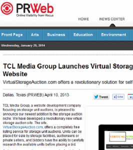 Virtual Storage Auction Press Release