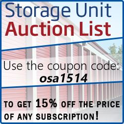 Storage Unit Auction List