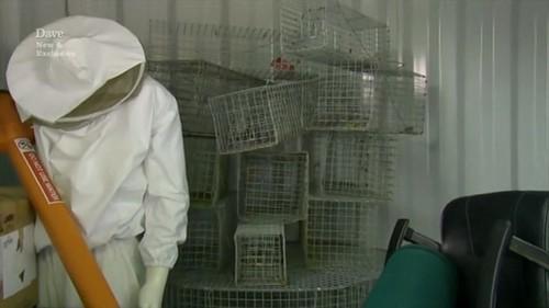 exterminator suit rats cages